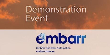Embarr Bushfire Sprinkler Automation Demonstration in Stirling tickets