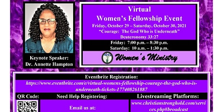 """Virtual Women's Fellowship """"Courage: The God Who is Underneath"""" tickets"""