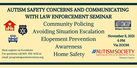 Autism Safety Concerns and  Communicating with Law Enforcement Via ZOOM tickets