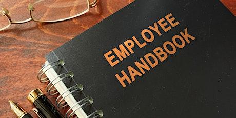Employee Handbooks: 2021 Update on Policy and Procedures tickets