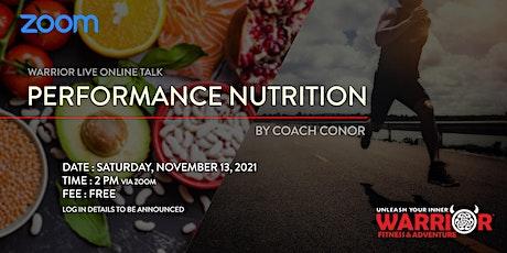 Warrior Live  Online Talk: Performance Nutrition tickets