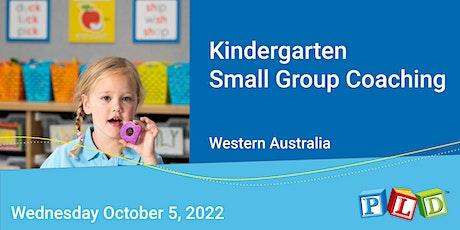 Kindergarten  Small Group Half Day Coaching October 2022 tickets