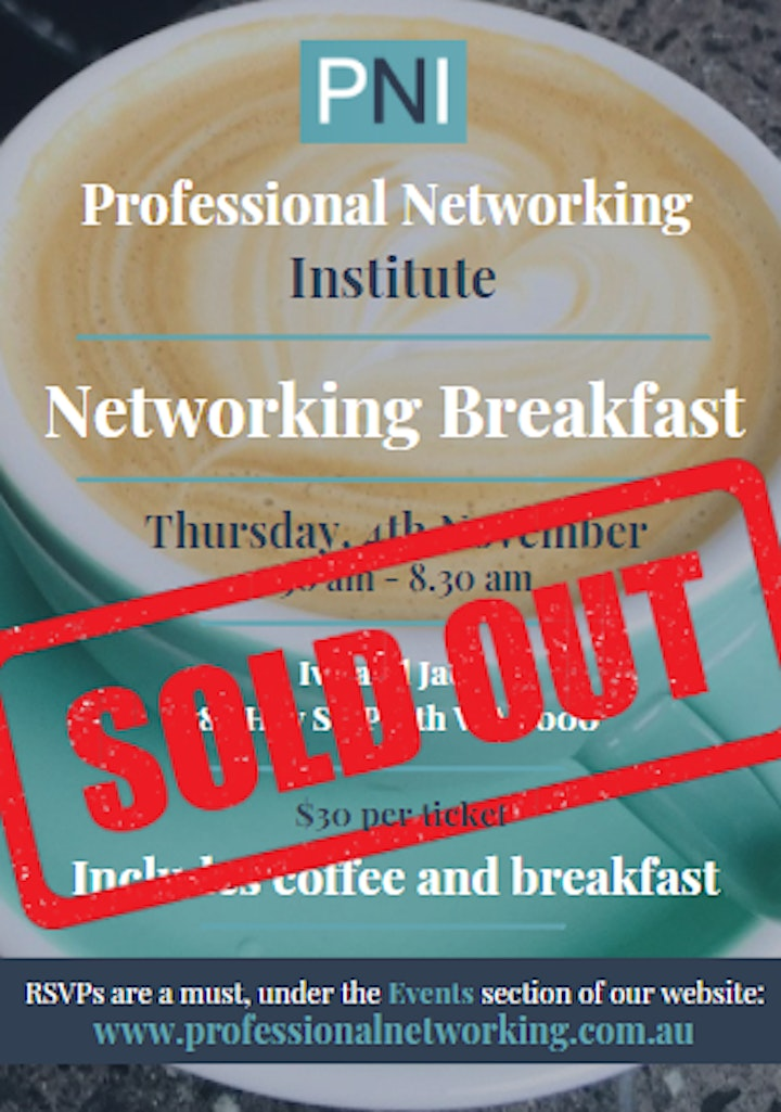 Professional Networking Institute - Networking Breakfast - October image