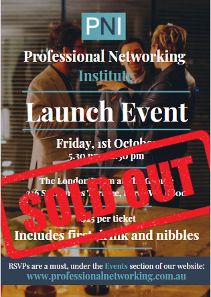 Professional Networking Institute - Launch Event image