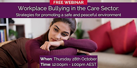 Workplace Bullying in the Care Sector tickets
