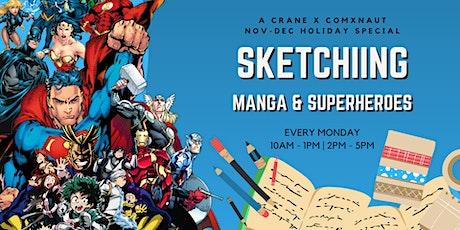 Sketching Manga & Superheroes: A Crane X Comxnaut Nov-Dec Holiday Special! tickets