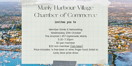 Manly Harbour Village COC Member Drinks & Networking tickets