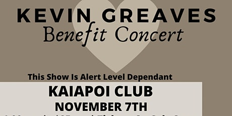 Kevin Greaves Benefit Concert - South Island tickets