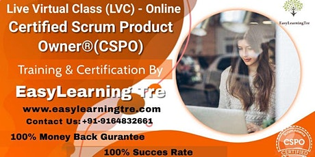 Certified Scrum Product Owner® (CSPO) Training Certification Online Tickets
