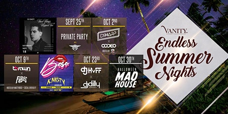 Vanity's Endless Summer Nights  Ft DJ HVFF x DJ DILLY at Vanity Free Guestlist - 10/23/2021 tickets