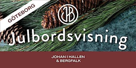 Johan i Hallen & Bergfalks Julbordsvisning GÖTEBORG biljetter