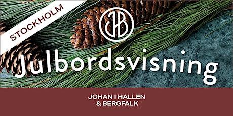 Johan i Hallen & Bergfalks Julbordsvisning STOCKHOLM tickets