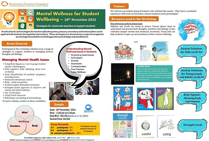 Mental Wellness for Student Wellbeing Online Workshop image