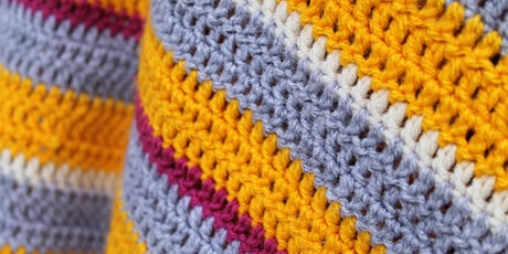 Crochet Basics for Complete Beginners - Multistitch Sample Square tickets