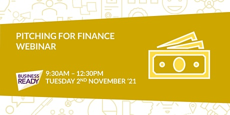 Pitching for Finance Webinar tickets