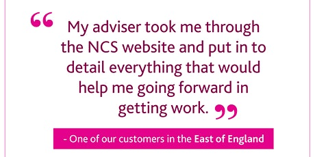 •National Careers Service East of England - DWP Support Event tickets