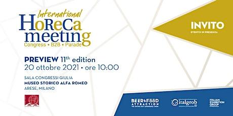 Preview 11th edition International Horeca Meeting biglietti