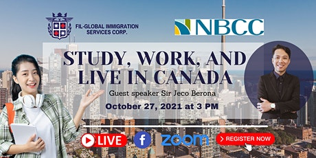 FREE WEBINAR: STUDY, WORK AND LIVE ABROAD WITH NBCC entradas