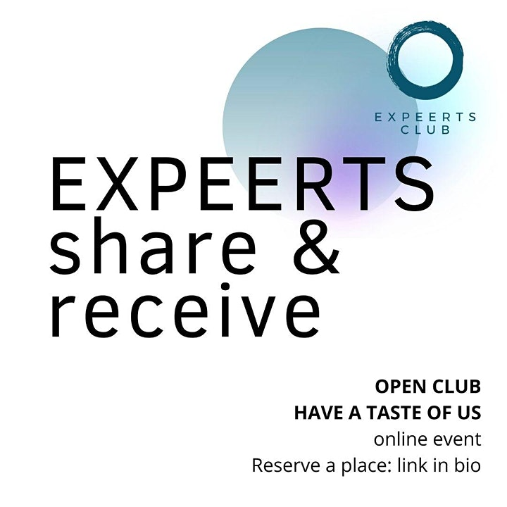 OPEN CLUB at EXPEERTs.club  for impactful women worldwide | 12 OCTOBER 2021 image