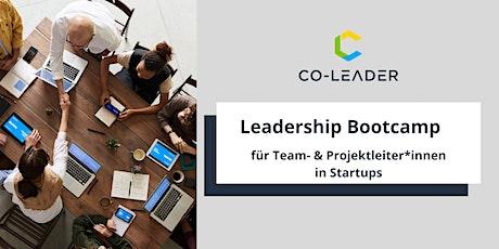 Leadership Bootcamp für Team- und Projektleiter*innen in Startups tickets
