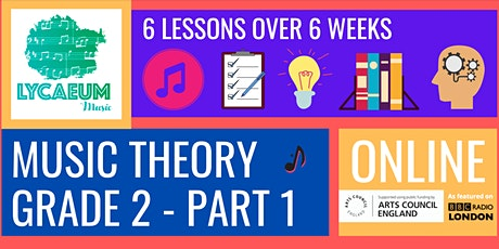 ABRSM Music Theory: Grade 2, Pt.1 (7-9yo) - Pick your weekly time slot tickets