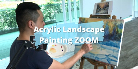 8 Sessions Virtual Acrylic Landscape Painting ZOOM tickets