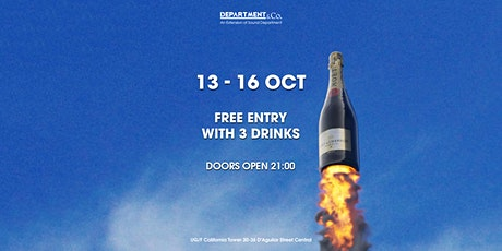 LIMITED FREE DRINKS GUESTLIST @ Department & Co. tickets