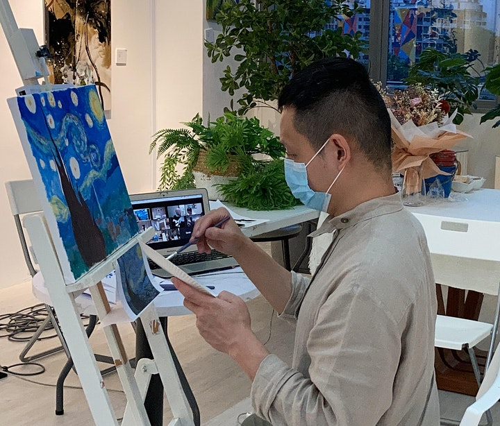 8 Sessions Virtual Acrylic Landscape Painting ZOOM image