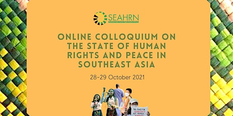 Online Colloquium on the State of Human Rights and Peace in Southeast Asia tickets