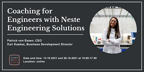 Coaching for Engineers with Neste Engineering Solutions tickets