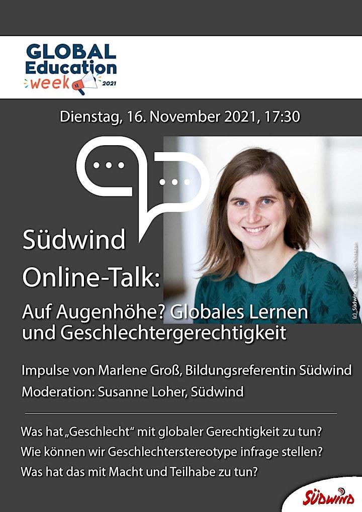 Südwind Online-Talk: Globales Lernen und Geschlechtergerechtigkeit: Bild