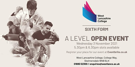 A Level Open Event tickets
