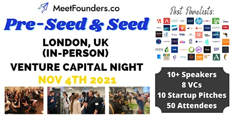 Venture Capital Night (Pre-Seed & Seed) In-Person London Event tickets