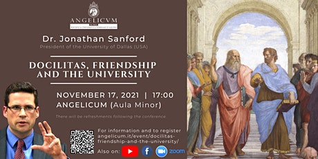 Docilitas, Friendship and the University (Dr. Jonathan Sanford) biglietti