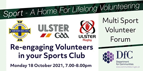 Multi Sport Volunteer Forum - Re-engaging Volunteers in your Sports Club tickets
