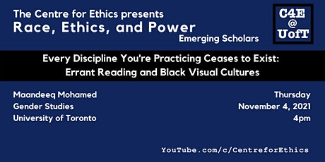 Maandeeq Mohamed, Errant Reading and Black Visual Cultures tickets
