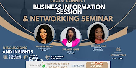 Lagos Connect Business Information Session & Networking Seminar tickets