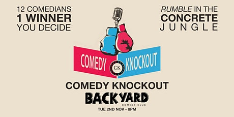 Comedy Knockout at Backyard Comedy Club - Streaming tickets tickets