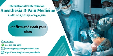 International Conference on Anesthesia and Pain Medicine tickets