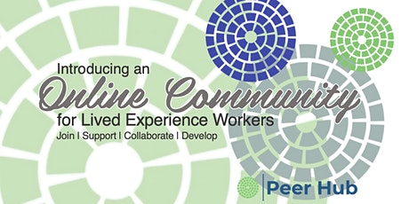 An Introduction to Peer Hub's Lived Experience Online Community tickets