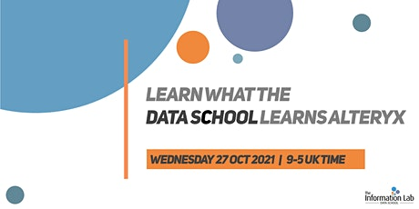 Virtual - Learn what the Data School learns Oct 2021 (Alteryx) tickets