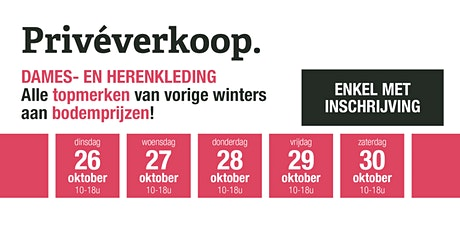 Privéverkoop modemakers - dames- en herenkleding tickets