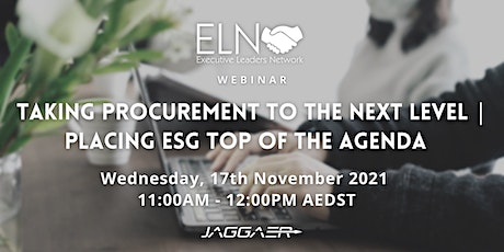 Taking Procurement to the Next Level   Placing ESG Top of the Agenda tickets