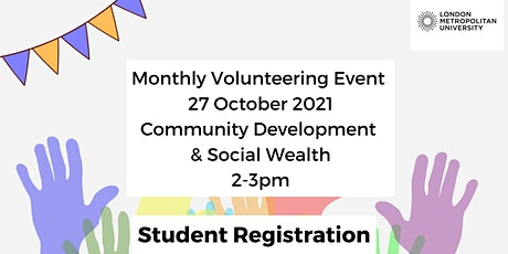Monthly Online Volunteering Event October: focus Community Development tickets