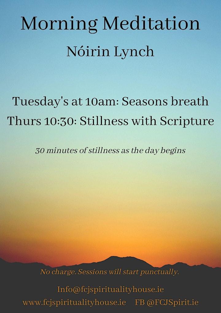 Thursday Morning Meditation - Stillness with Scripture image