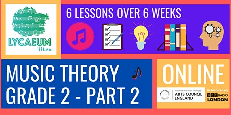 ABRSM Music Theory: Grade 2, Pt.2  - Pick your weekly time slot tickets