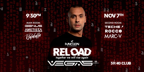 Function RELOAD VEGAS | together we will rise again... tickets