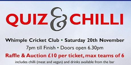 Quiz & Chilli tickets