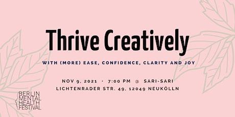 Thrive Creatively Workshop - Berlin Mental Health Festival 2021 tickets