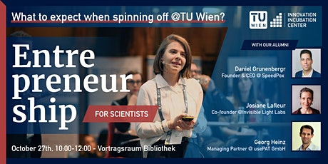 #E4s - What to expect when spinning-off @ TU Wien Tickets